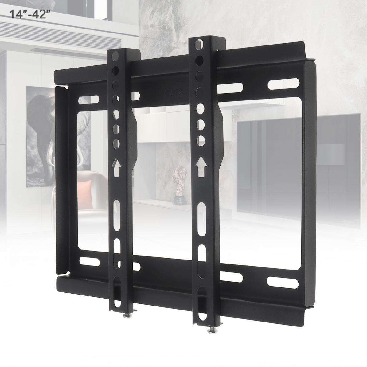 Soporte de montaje en pared Universal para televisor, práctico Marco de TV de tipo fijo de 25KG para Monitor LCD LED de 14 - 42 pulgadas