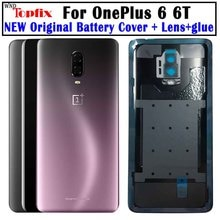 Original Glass For OnePlus 6 6T Back Battery Cover Door Rear Glass Oneplus 7 Pro Battery Cover 1+6T