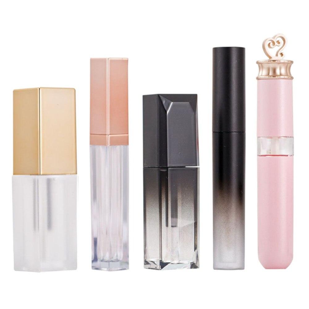 5 шт. Новые DIY контейнеры для блеска для губ многоразовые пустые бутылочки для бальзама для губ косметические инструменты для макияжа