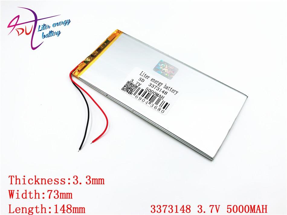 Литровая энергия батарея новая 3373148 3,7 V 5000MAH литий-полимерная батарея аккумуляторная батарея 3070150 3075150 5000MAH таблетки