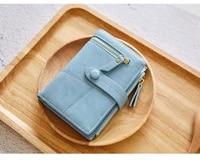 2019 new women wallets lady purses female wallet short zipper mini fashion hasp leather coin card holder wallet clutch bag