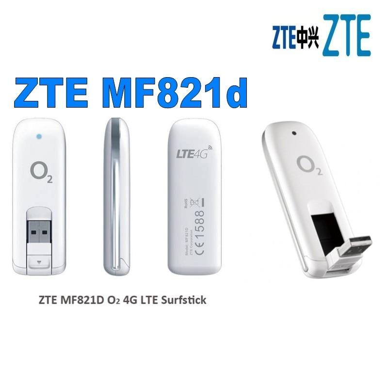 الكثير من 10 قطعة موبايل برودباند مقفلة ZTE MF821d 100 LTE 4G 3G 2G مودم USB دونغل جديد