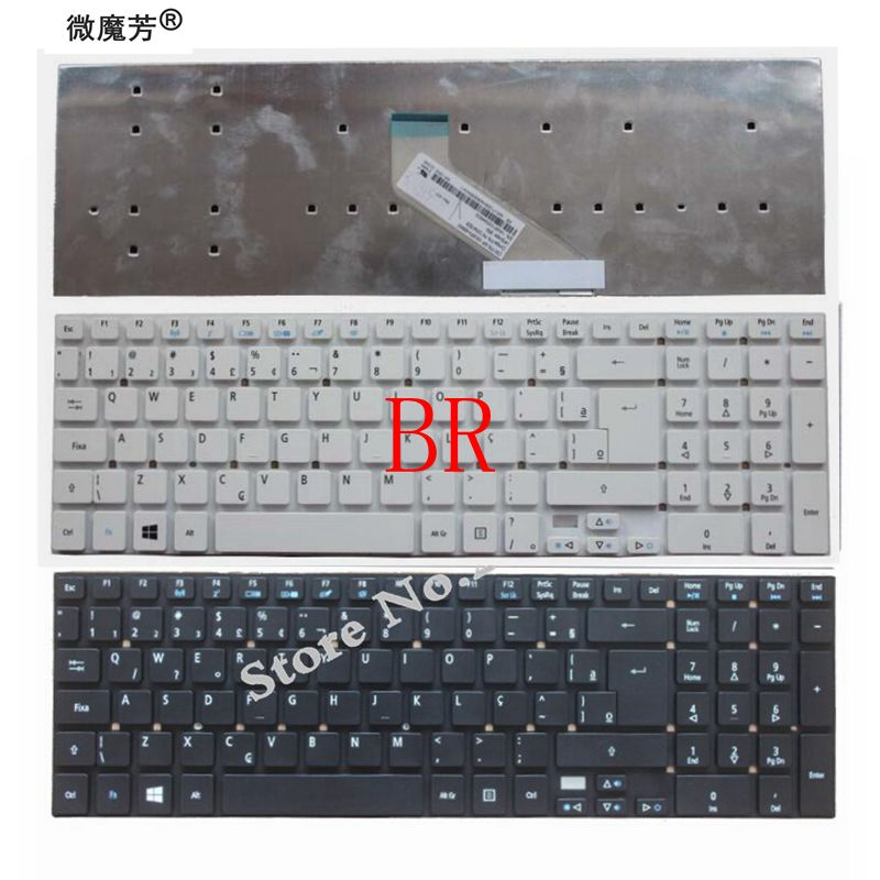 BR Клавиатура для ноутбука ACER Aspire E15, новая клавиатура для ACER Aspire E15, E1-510P, 5755, 5755, 5830, 5830, 5830 T, 5830 T, E1-522G, E1-530G, E1-532G, Бразилия