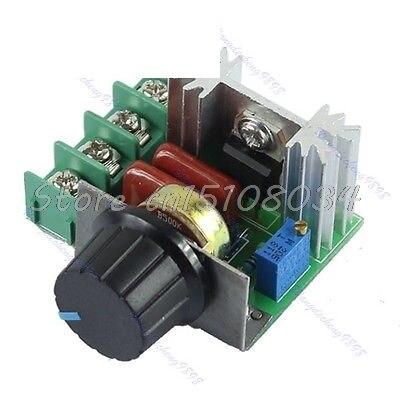 Regulador de voltaje oscurecimiento AC 220V 2000W SCR regulador de velocidad termostato S08 venta al por mayor y DropShip
