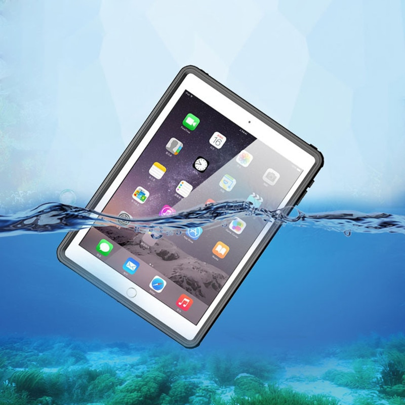 Funda impermeable para iPad Mini 4 IP68 fina transparente a prueba de agua a prueba de golpes para iPad Mini 4 al aire libre buceo natación Coque