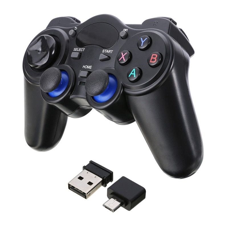 AliExpress - HobbyLane Wireless Gamepad Joystick 2.4G Game Console With Micro USB OTG Converter Adapter For Android Tablets PC TV Box