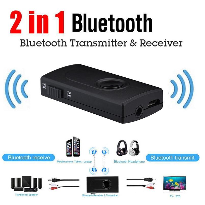 Adaptador de Bluetooth Transmisor receptor inalámbrico adaptador de música de Audio único con Cable de carga USB 3,5mm Cable de Audio 40JUN0