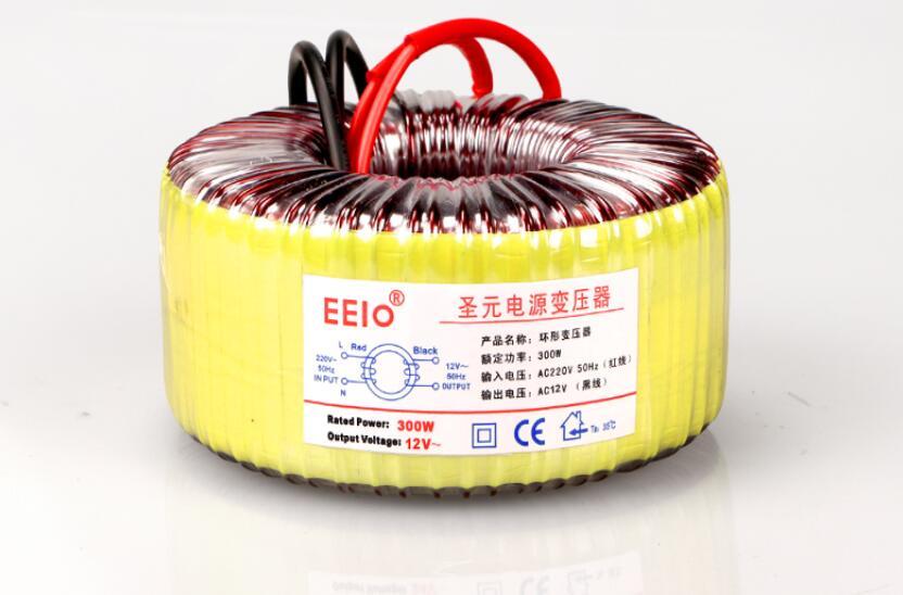 12 V/24 V/36 V transformador Toroidal transformador de cobre personalizado 220V de entrada 12V 25A 300VA transformador de potencia