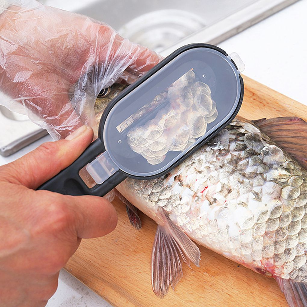 Portable Fish Scales Skin Remover Scaler Fast Cleaning Fish Skin Stainless Steel Scraper Kitchenware Clean Peeler Tool