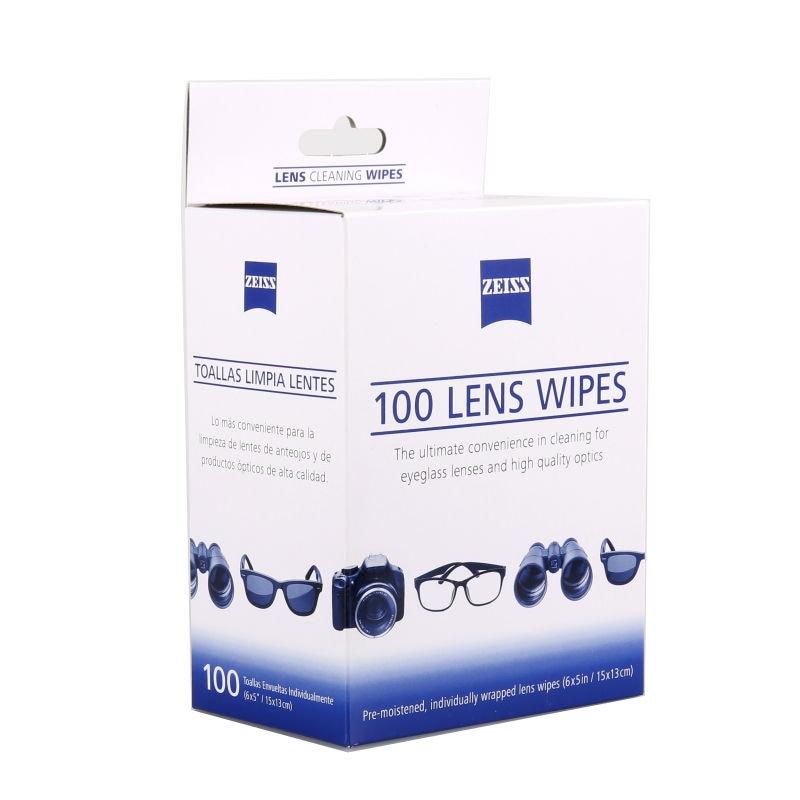 200 recuentos de pelusa ZEISS y toallitas limpiadoras de tv lcd prehumedecidas sin amoníaco (2 paquetes de 100 toallitas)