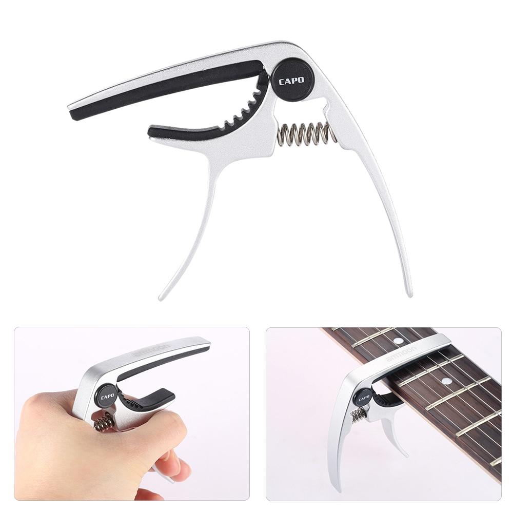 Ammoon cejilla de metal guitarra de cambio rápido de una sola mano ligero fuerte accesorios para guitarra ukelele Banjo mandolina bajo