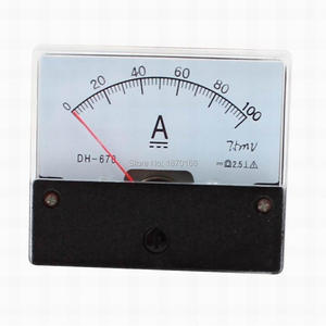 DH-670 DH670 DC 10A 15A 20A 30A 50A 75A 100A 150A 200A 300A 400A 500A 600A Analog Current Panel Meter Ampere Ammeter DH-670 DH67