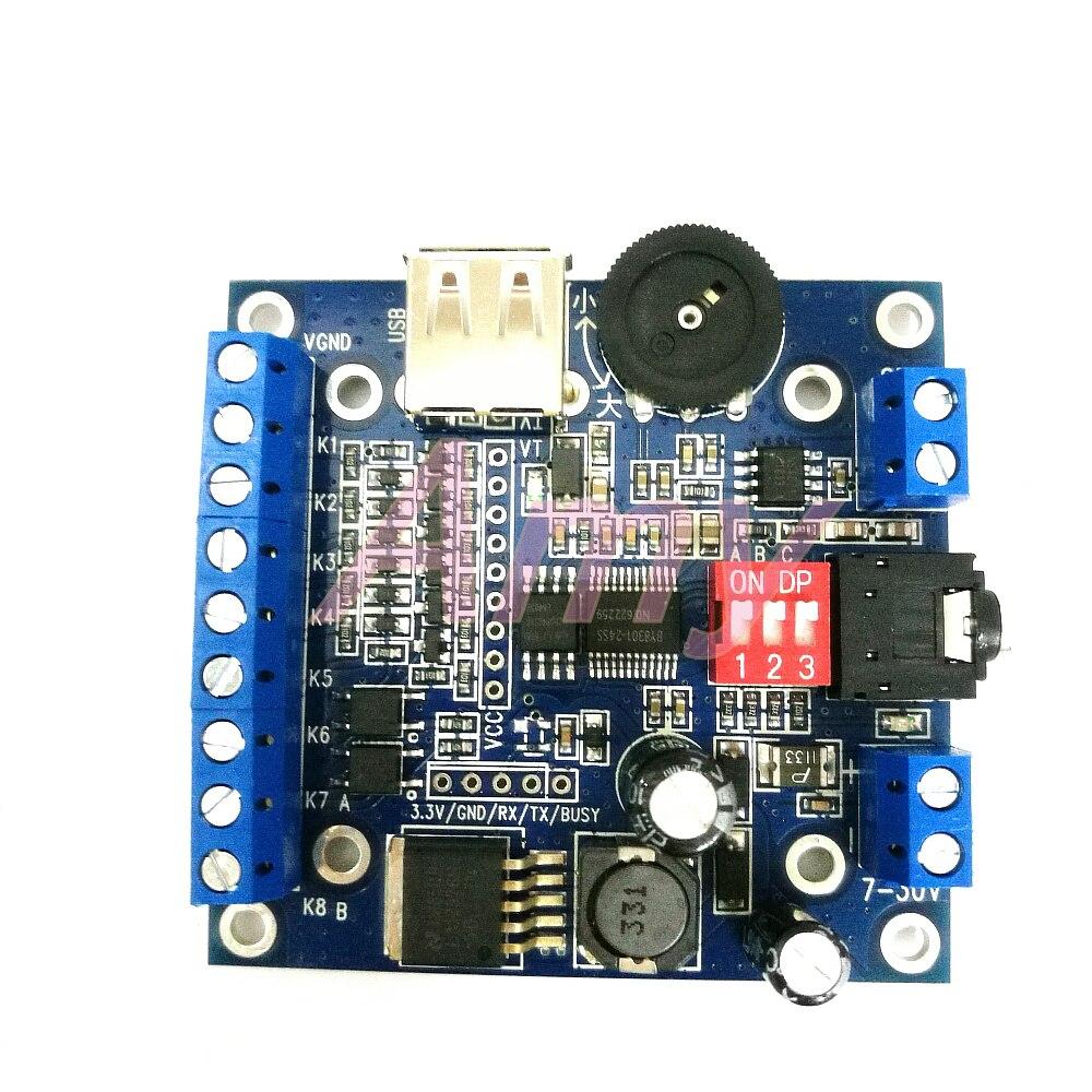 Módulo de voz de 12 V/24 V, tablero de reproducción de audio MP3, módulo de transmisión de sonido, BY-F610 de copia USB