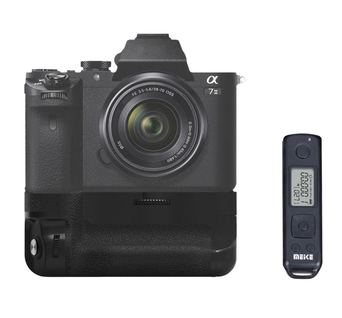 Встроенный беспроводной контроль Meike MK-A7II Pro, батарейный блок для Sony A7 II A7R II A7S II, как для Sony VG-C2EM