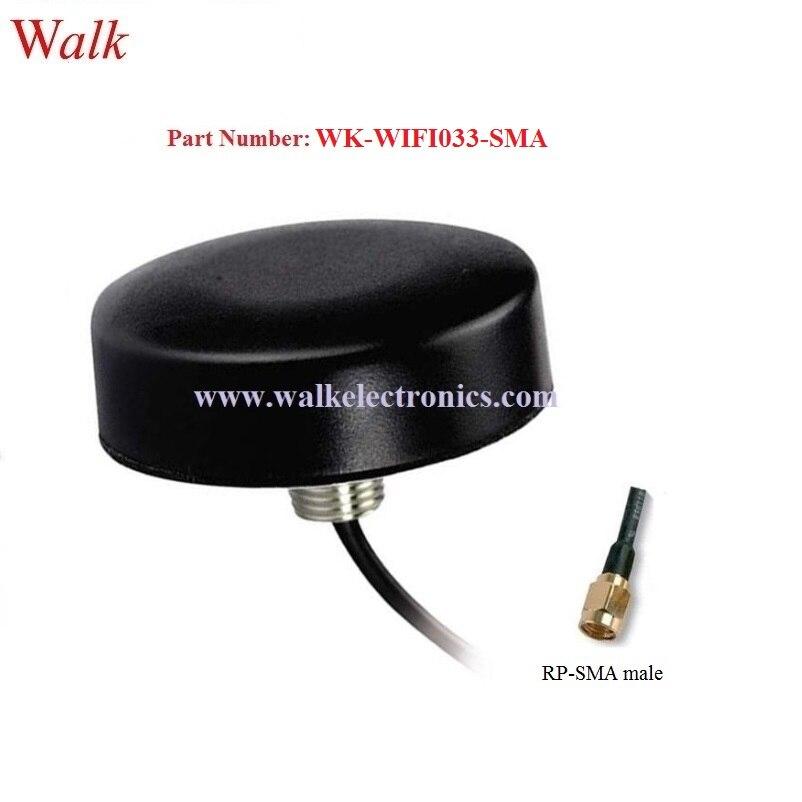 High gain wasserdichte outdoor verwenden wifi antenne dach mount blue tooth 2,4 ghz auto antenne