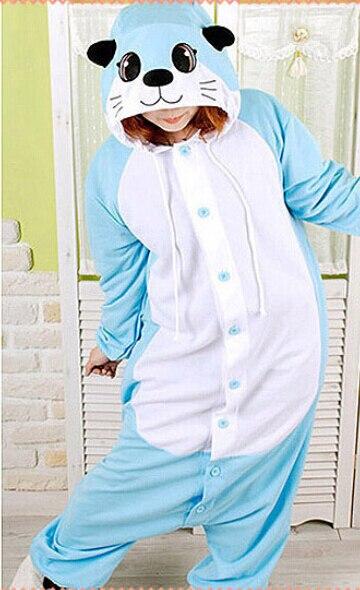 Nuevo disfraz de pijama de Cosplay de nutria para adultos