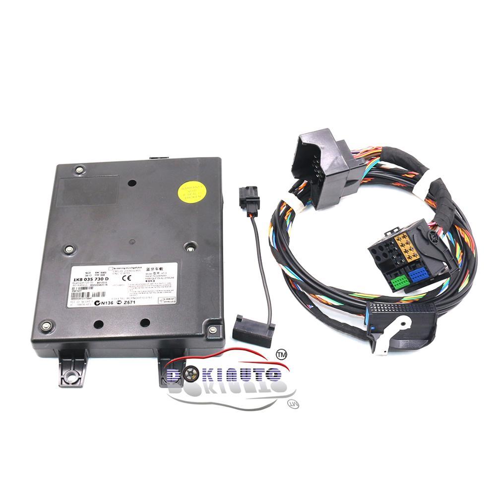 9W2 módulo Bluetooth + Plug & Play con arnés de micrófono 1K8 035 730 D para VW Golf MK6 Jetta MK5 ajuste RCD510