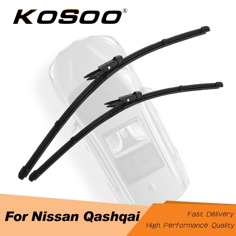 KOSOO For Nissan Qashqai j10/j11 Fit Pinch Tab/Hook Arms 2006 2007 2008 2009 2010 2011 2012 2013 2014 2015 2016 Auto Wiper Blade
