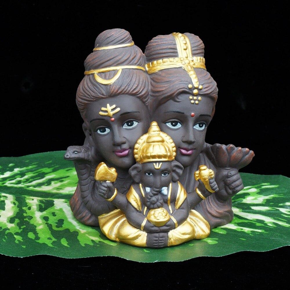Shiva Ganesha Vishnu estatua de elefante India Dios de baile de estatua de Buda patrón casa decoración figuras Decoración