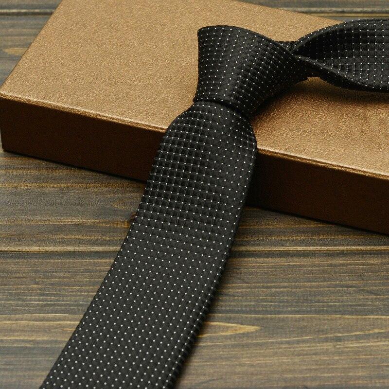 2019 New Fashion 6cm Mens Ties Neckties Black Silver Red Plaid Ties for Men Formal Wear Business Suit Jacquard Weave Ties