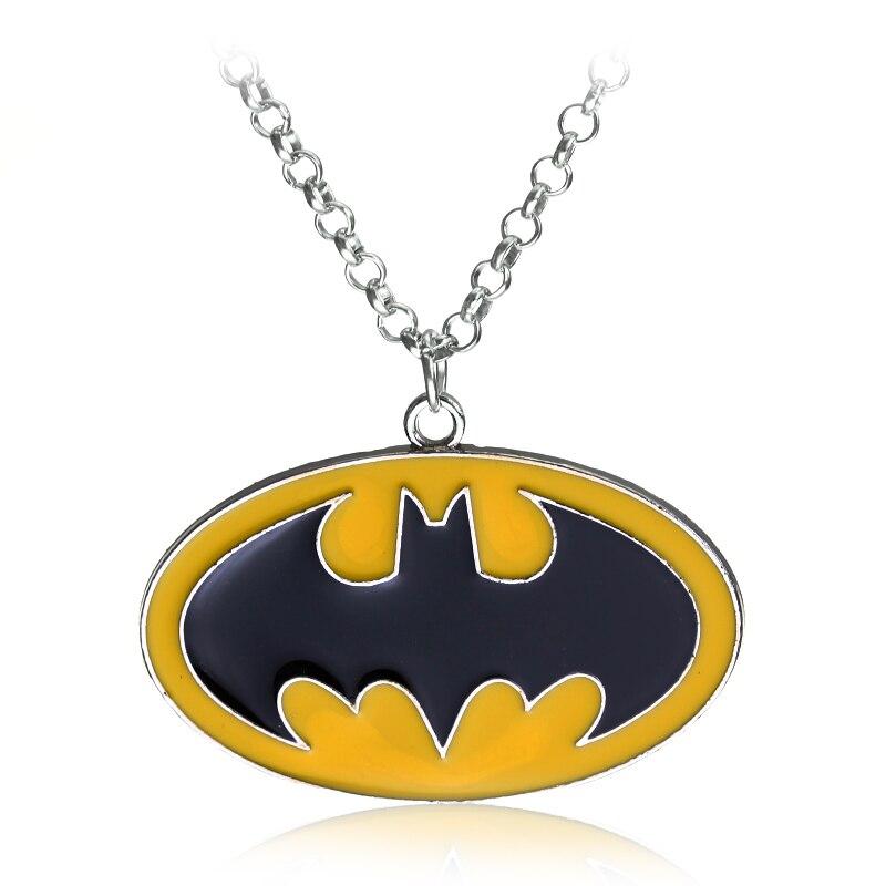 Dongsheng DC Comics superhéroe Batman, colgantes y collares de cadenas largas, collares de Gargantilla para hombres, joyería-30