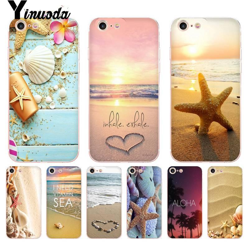Yinuoda для iphone 7 6 X Чехол Летний Пляжный Hawaii Aloha Sea Ocean Coque чехол для iPhone 8 7 6 6S Plus X 5 5S XS XR
