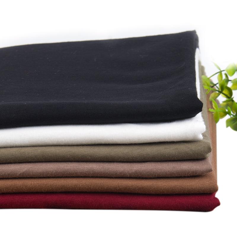 Xintianji новая чесаная хлопковая ткань для лета футболка s мягкая и дышащая тонкая ткань хорошая для футболки 50*160 см A0243