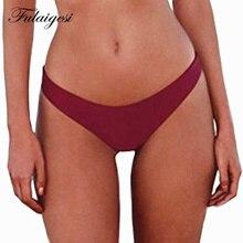 Fulaigesi Brazilian bikini thong bottom solid women hot low waist Two-Piece Separates swimsuit swimwear swimming Biquins Brief