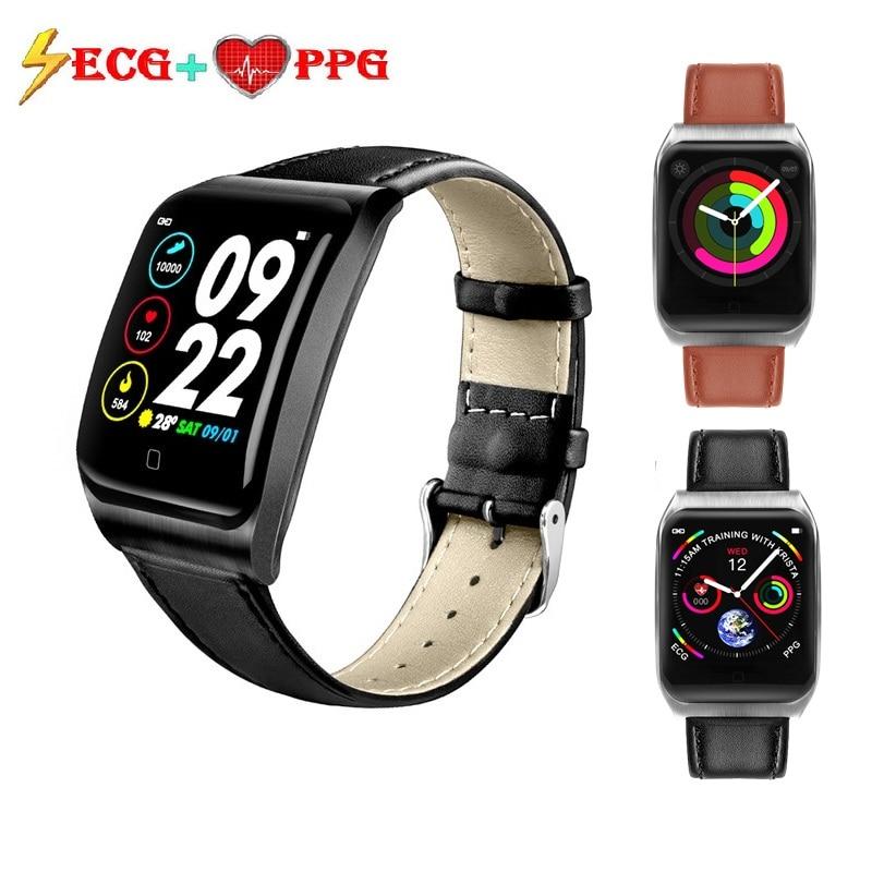 ONEVAN ECG PPG смарт-браслет монитор артериального давления пульса водонепроницаемый Женский фитнес-браслет трекер активности мужские спортивн...