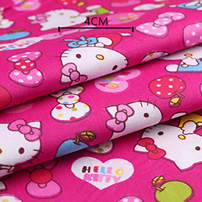 100% хлопок рисунок Hello Kitty ткань для текстиль для детского постельного белья лоскутное одеяло швейная ткань материал