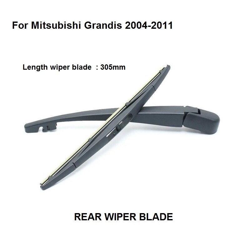 Accesorios de coche, escobilla trasera con hoja para Mitsubishi Grandis 2004-2011, escobilla limpiaparabrisas de longitud 305mm