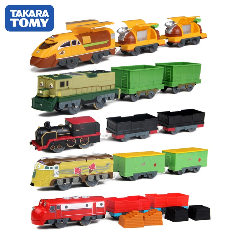 Takara tomy chuggington motorizado modelo elétrico trem dunbar/harrison/koko/chugger/chatsworth/frostini
