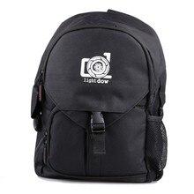 Lightdow noir résistant à leau jour voyage caméra sac photo unique épaule sac de transport pour canon Nikon Sony DSLR appareils photo
