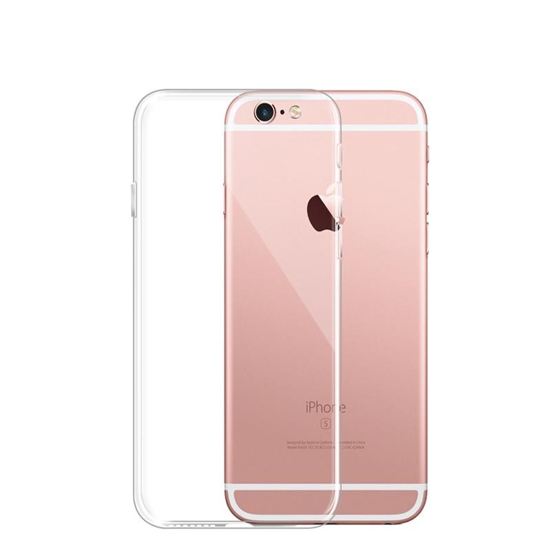 Funda de silicona suave TPU transparente de doble capa de silicona para iPhone XS Max XR X 4 4S 5 5c 5S 6 6S 7 8 Plus + funda completa de TPU