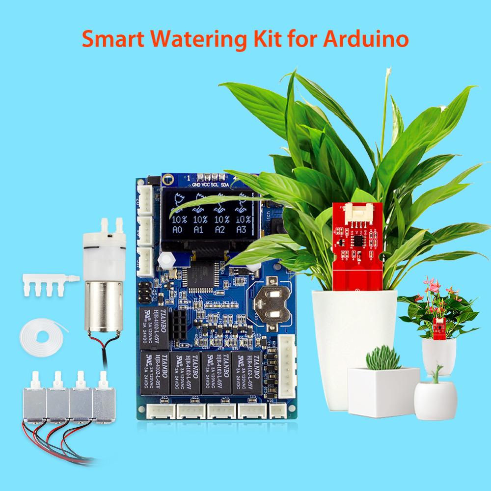 Elecrow Automatic Smart Plant Watering Kit for Arduino Garden DIY Program Flower Water Device Capacitive Soil Moisture Sensor