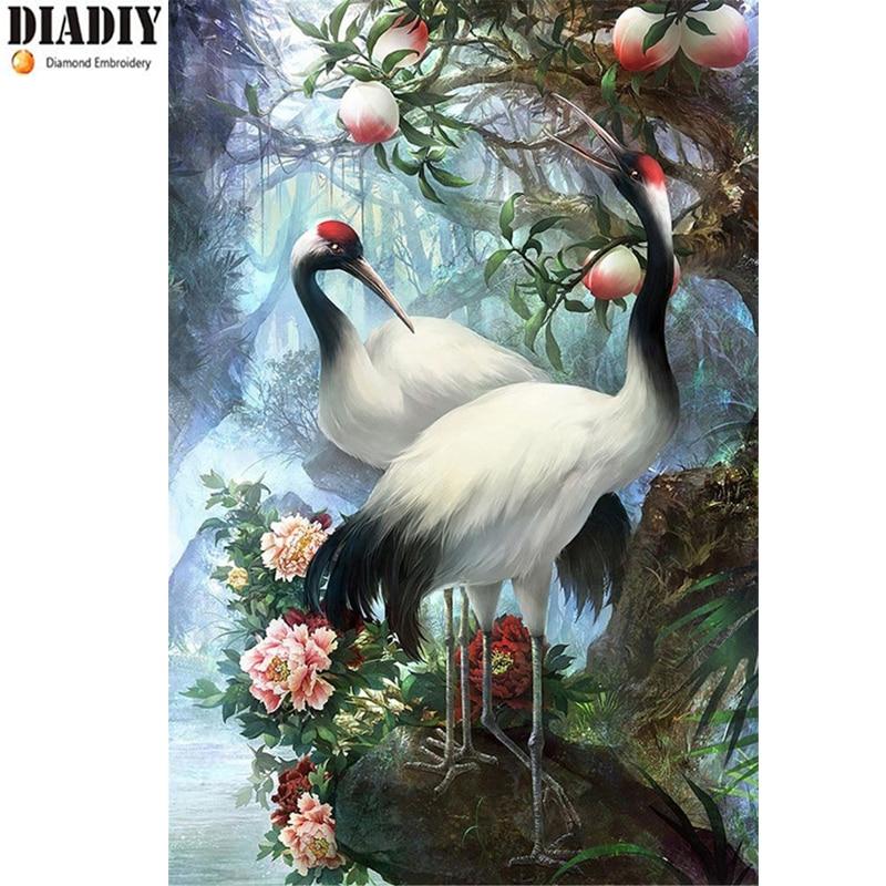 Completo Cuadrado y Redondo taladro 5D DIY diamante pintura grúa unicornio 3D bordado conjunto Cruz puntada mosaico decoración regalo