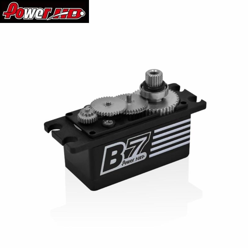 Power HD B7 short body brushless high pressure steel tooth Servo Steering gear Revolution version for RC Car enlarge