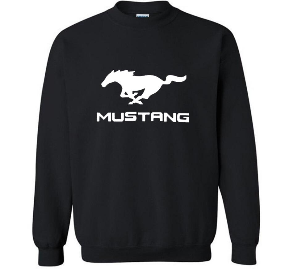 New Fashion Cotton Men Hoodies Mustang Car Logo Print Fleece O-Neck pullover Sweatshirts HipHop Harajuku Streetwear Men Clothing