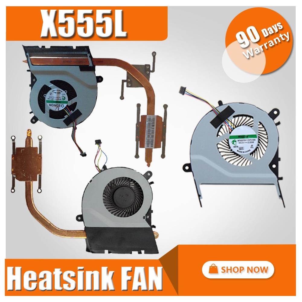 Вентилятор радиатора для ноутбука ASUS X555LN X555LP X555LA X555LD W519L A555L Y583L K555L R556L VM590L X555 X555LJ охлаждающий вентилятор