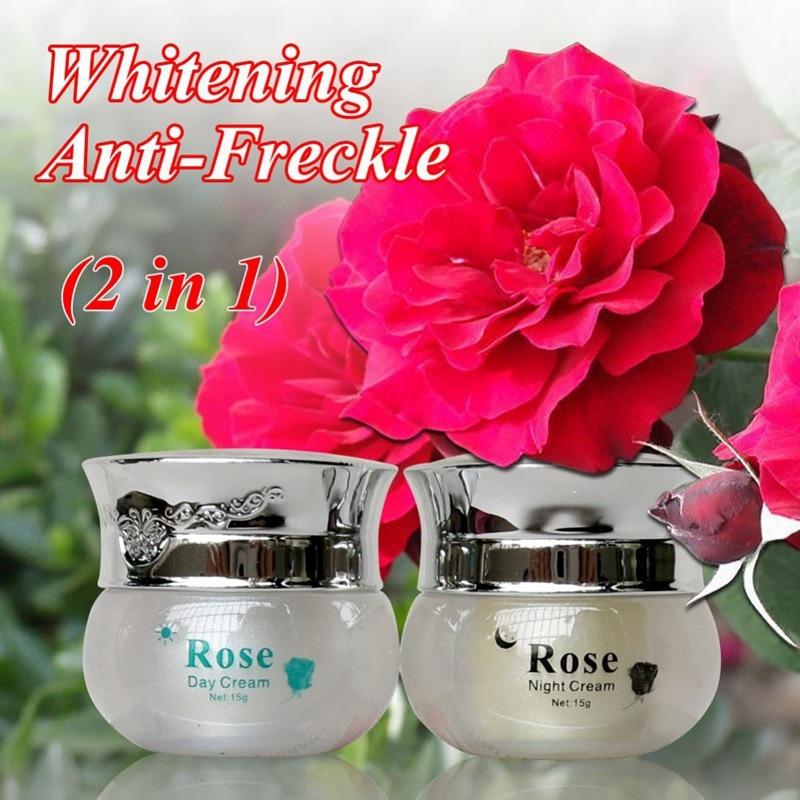 Refinación de rosas crema facial nutritiva antiarrugas nutritiva crema blanqueadora renovadora 1 Uds./2 uds./3 uds.
