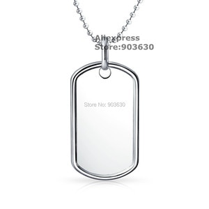 Free Shiping US Dog Tag 52characters number Blood type Religion Silver classic dog tag pendant