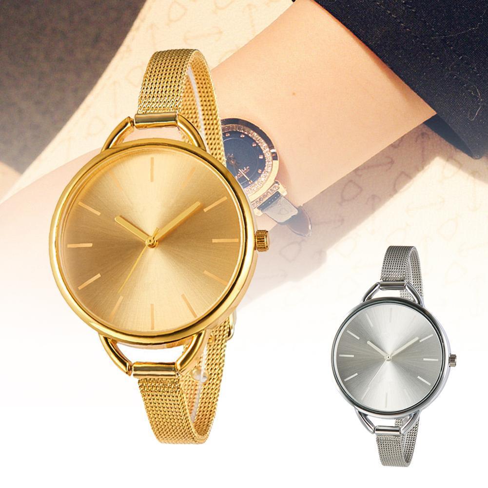Мини Ремешок сетки Брендовые Часы GENEVA обертывание кварцевые повседневные часы маленький браслет сплав часы Оптовая торговля