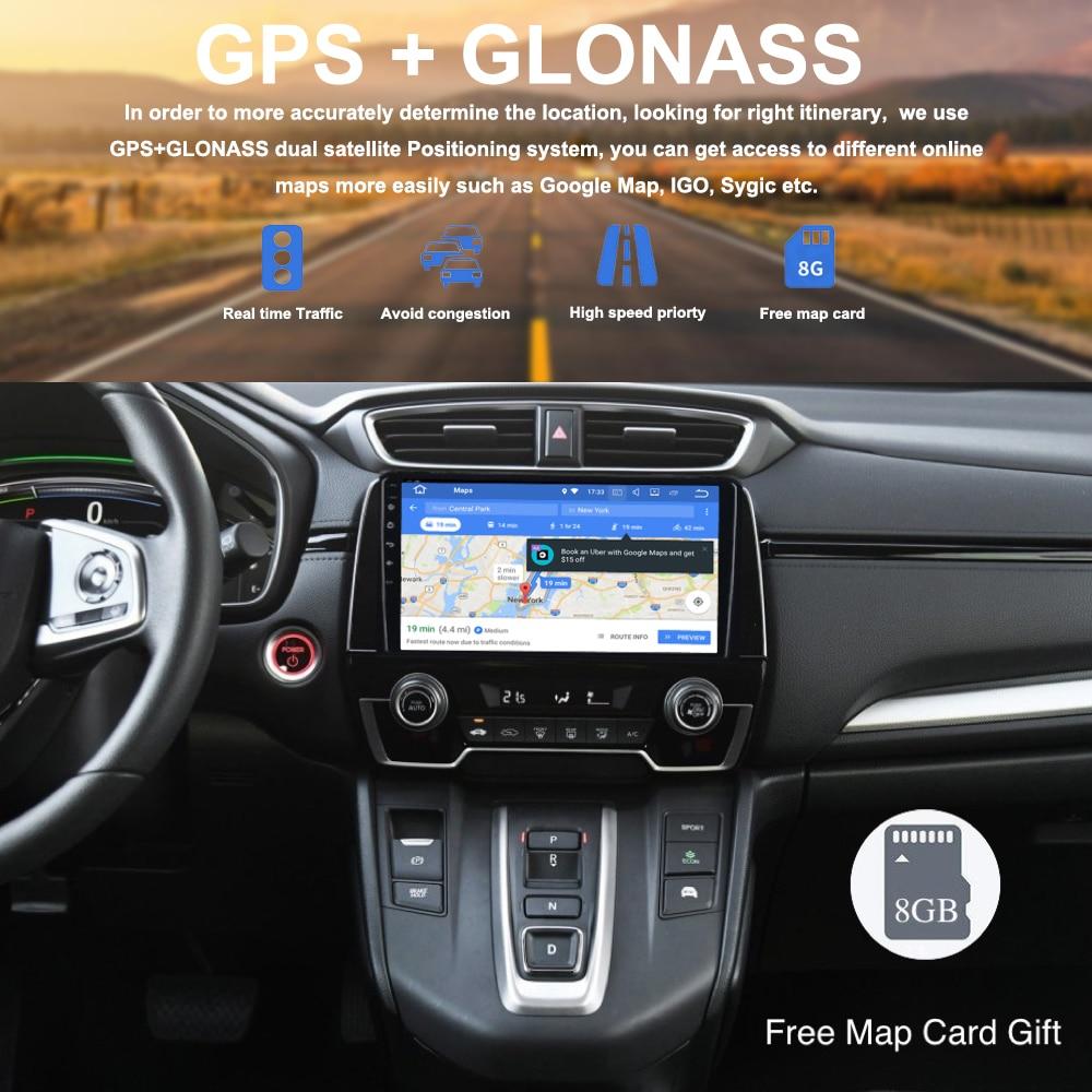 "La Radio del coche GPS Android 9,0 para Honda CRV 2018 CR-V reproductor Multimedia navegación 9 ""2.5D IPS pantalla PX5 4G ram 32G rom 8-Core RDS"