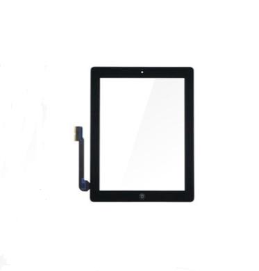 10 Uds blanco negro Panel táctil para ipad 2 / 3 / 4 Digitalizador de pantalla táctil + Home + botón de La etiqueta engomada + Cámara titular conjunto completo