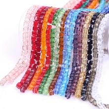 ZHUBI gros luxe cristal Cube perle 6/8mm breloques tchèque plaqué verre perles carrées en vrac artisanat perles pour la fabrication de bijoux