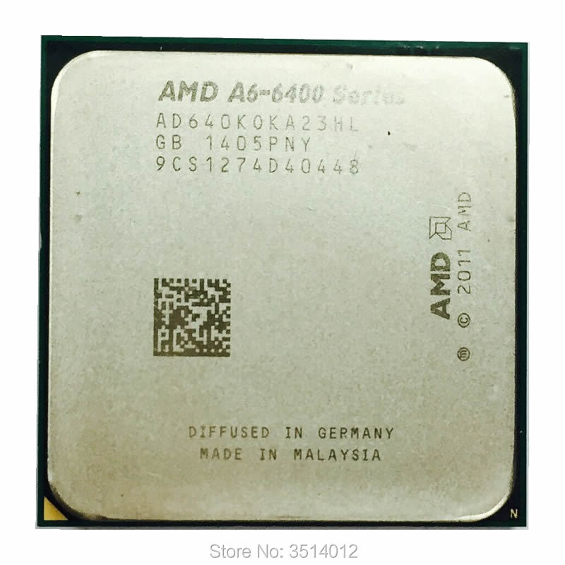 AMD A6-Series A6-6400K A6 6400 A6 6400K A6 6400B 3,9G 65W procesador de CPU de doble núcleo AD640KOKA23HL/AD640BOKA23HL Socket FM2