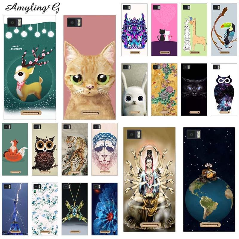 "Diseño de impresión de Fundas de teléfono para Infinix Zero 3 Zero3 X552 5,5 ""suave TPU cubre Fundas de animales de dibujos animados Lobo Fundas para gato búho perro"