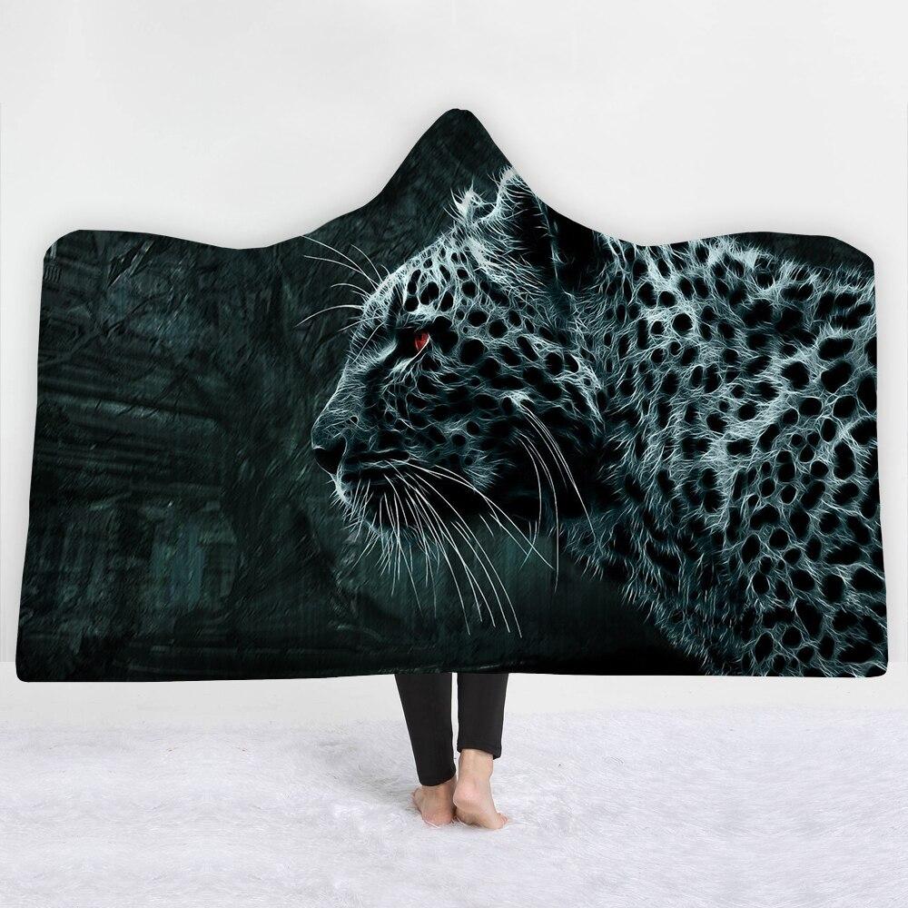 Manta erótica de leopardo, manta de alta calidad para mantenerse caliente, suave y cómoda, manta de estilo urbano verde oscuro