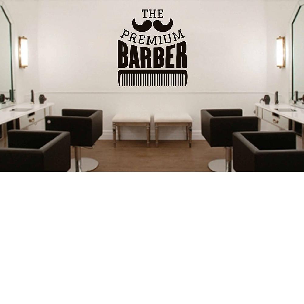 Barbershop comb wall stickers Detachable vinyl Barbershop Logo Sticker Window Decals Barbers Logo Hair Salon Wall Decal G169