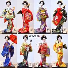 Figuritas de Geisha japonesas Kawaii de 30cm, precioso kimono, decoración de nueva casa y oficina, miniaturas, regalo de cumpleaños